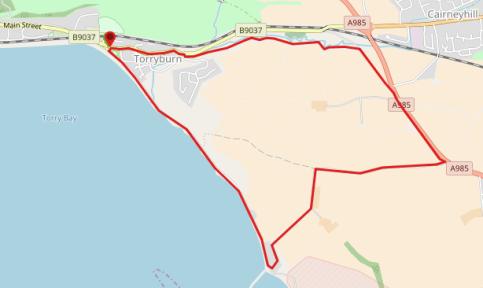 Shore Road, Torryburn - 4 miles