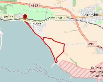 Shore Road, Torryburn to Crombie Point