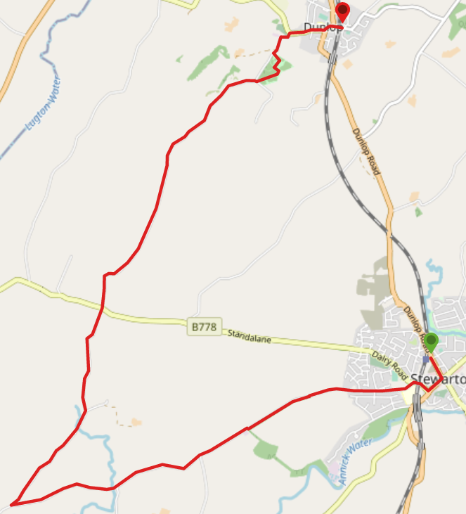 route map in OpenStreet view